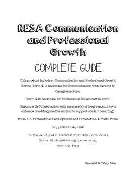 Resident Educator Complete Communication & Professional Growth (RESA)