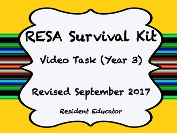 Resident Educator - RESA - Year 3 Survival Kit - Tasks 1-4