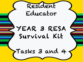 Resident Educator - RESA - Year 3 Survival Kit - Tasks 2 & 3