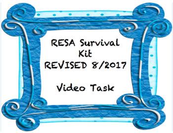 Resident Educator - RESA - Year 3 Survival Kit - Updated August 2017