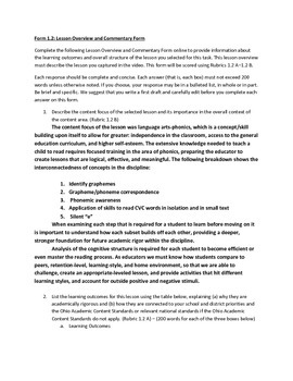 Resident Educator Summative Assessment:Ohio RESA