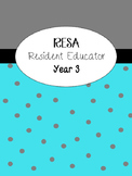 Resident Educator Year 3 RESA binder