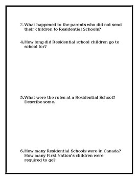Residential School Research Project