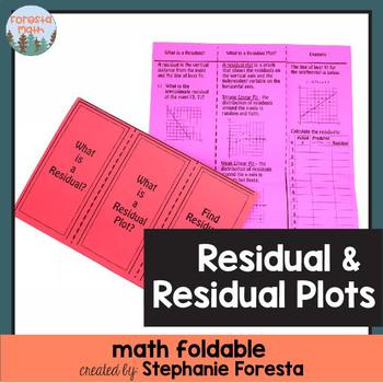 Residual & Residual Plots Foldable