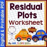 Residuals and Residual Plots PDF Worksheet