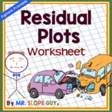 Residuals and Residual Plots PDF Worksheet