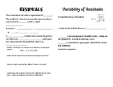 Residuals and Variability of Residuals