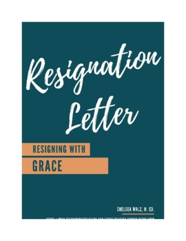 Sample Letter Of Resignation Teacher.Letter Of Resignation Worksheets Teaching Resources Tpt