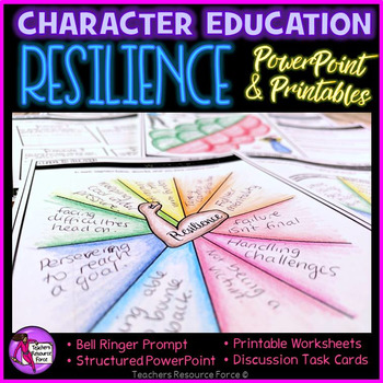 Resilience Lesson: Character Education (PowerPoint, Task Cards & Printables)