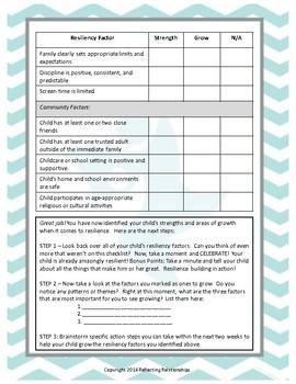 Resilience Checklist for Children