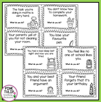 Resilience Scenarios - Task Cards for Role Play