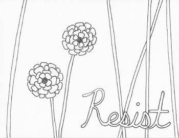 Resist. Persist. Insist. Coloring Pages