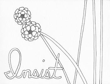 Resist. Persist. Insist. Coloring Pages