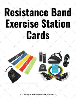 Resistance Band Exercise Station Cards