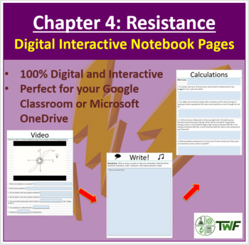 Resistance - Digital Interactive Notebook Pages