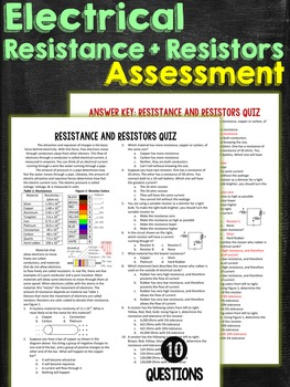 Resistance and Electrical Resistors Quiz