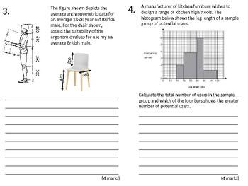 Resistant Materials Wood-Shop Revision Lesson #14: Anthropometrics Guide