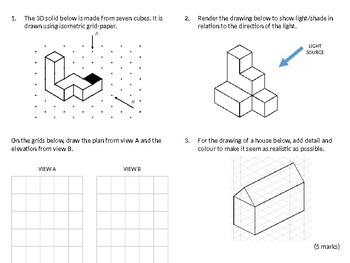 Resistant Materials Wood-Shop Revision Lesson #15: Isometric Drawing Guide