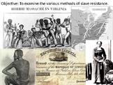 Resisting Slavery PowerPoint Presentation