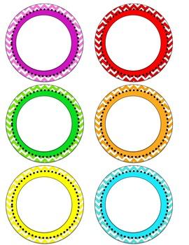 Resizable Chevron Circle Label clip arts