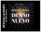 Resoluciones de Año Nuevo / New Year's Resolutions SPANISH
