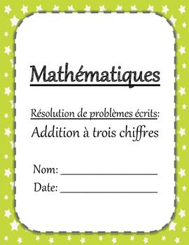 Problèmes écrits - Addition à trois chiffres