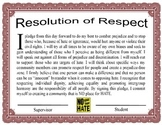 Resolution of Respect for Students