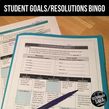 Goal-Setting BINGO for Students: FREE Resolutions Activity for Teens