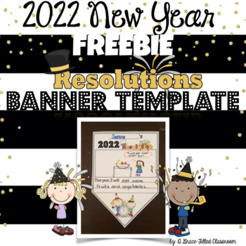 B 2018 New Year's Resolutions Banner FREEBIE