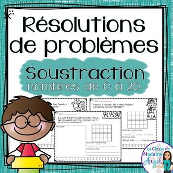 Résolutions de problèmes:  Subtraction Word Problems in French