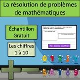 Résolutions de problèmes Échantillon Gratuit {Word Problems FREEBIE in French}