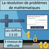 Résolutions de problèmes avec les chiffres 1 à 10 {Math Word Problems in French}