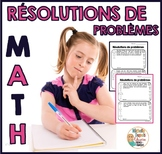 Résolutions de problèmes à plusieurs étapes  -  French Math Word Problems