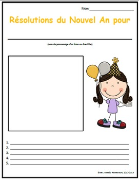 Résolutions du Nouvel An (New Year's Resolutions Activity Pack - French)