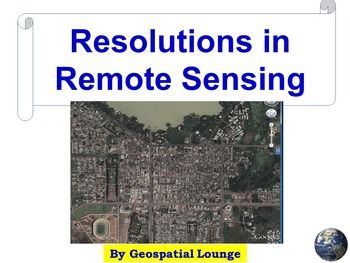Resolutions in Remote Sensing