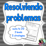 Resolviendo Problemas - Spanish Bilingual Addition Word Problems