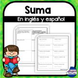 Resolviendo problemas de suma en ingles y espanol