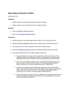 Resolving Conflict Lesson