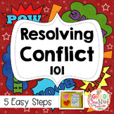 Resolving Conflict 101 {Help for Teachers/Activities for S