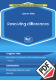 Resolving differences