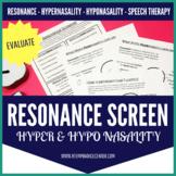 Resonance Screener Hypernasality Hyponasality for Speech Therapy