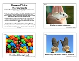 Resonant Voice Therapy Cards