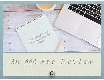 Resource: An AAC App Review-FREEBIE