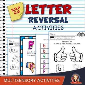Resource Binder of Activities for Letter Reversals b d p q g