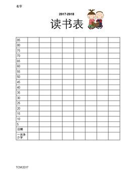 Resource- Chinese Reading Log