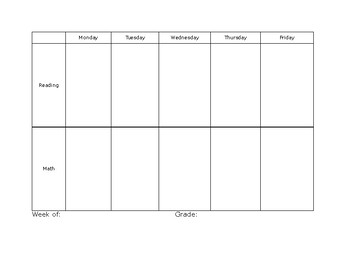 Resource Classroom Lesson Plan Template