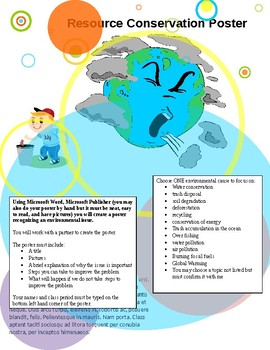 Resource Conservation Poster