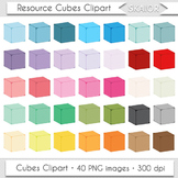Resource Cubes Clip Art Game Cube Clipart Rainbow Board Ga