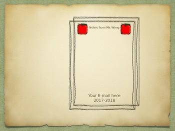 Resource- Editable Teacher Notepad