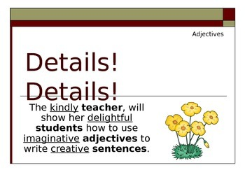 Special Education: Writing Creative Sentences Using Adjectives